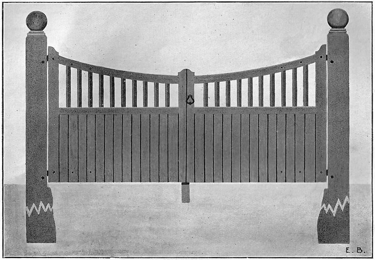 Wrought Ornamental Entrance Gate Pattern L