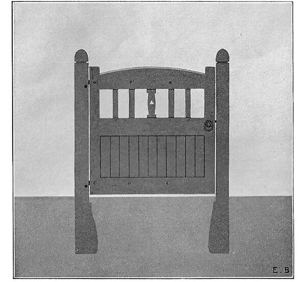 Wrought Ornamental Hand Gate Pattern P