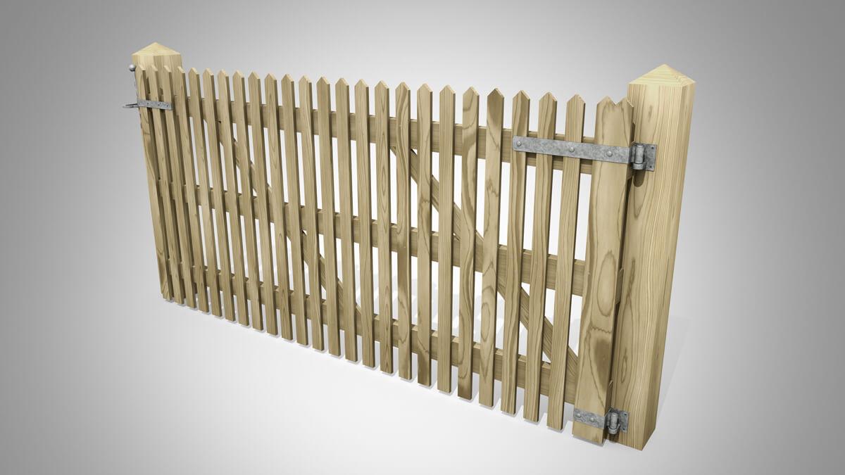 Handmade Field Paled Gate Pattern D Angle