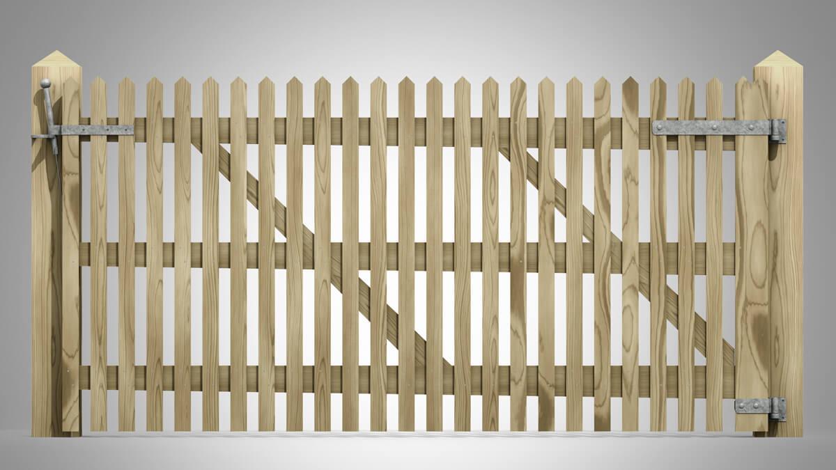 Handmade Field Paled Gate Pattern D front