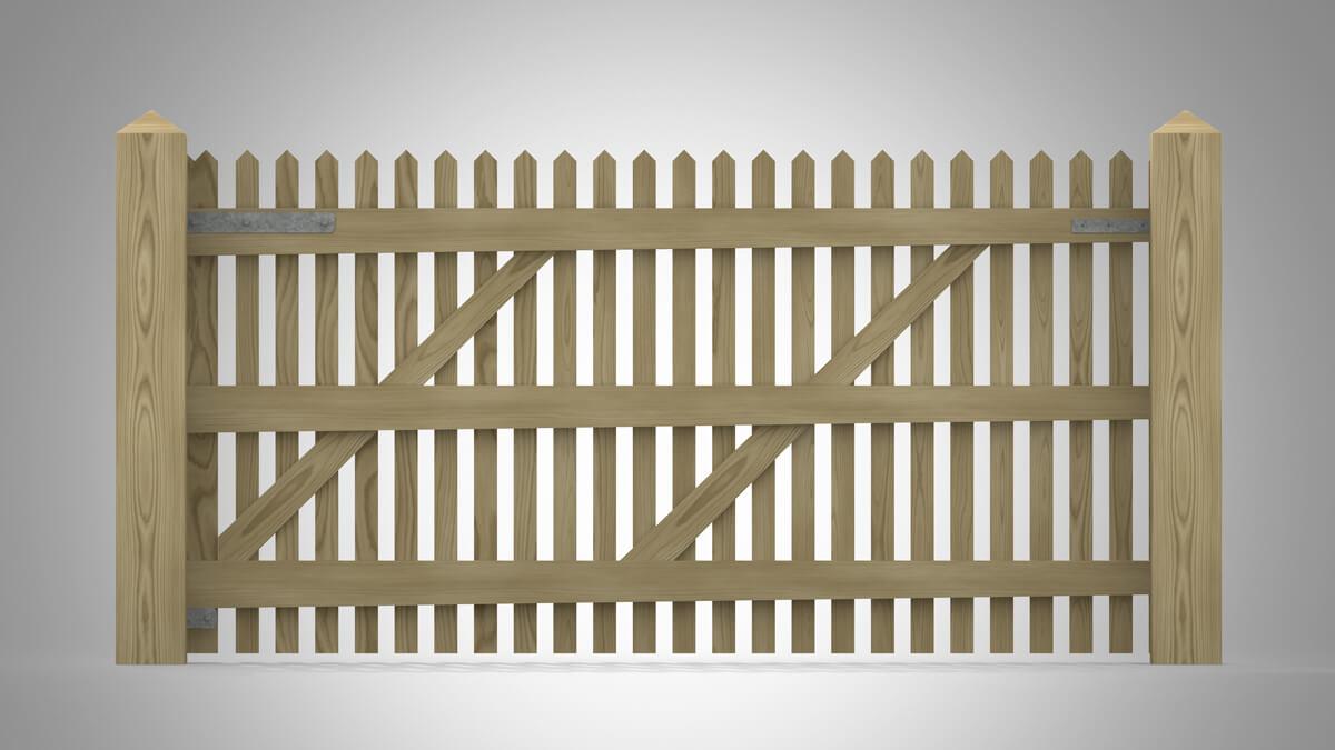 Handmade Field Paled Gate Pattern D rear