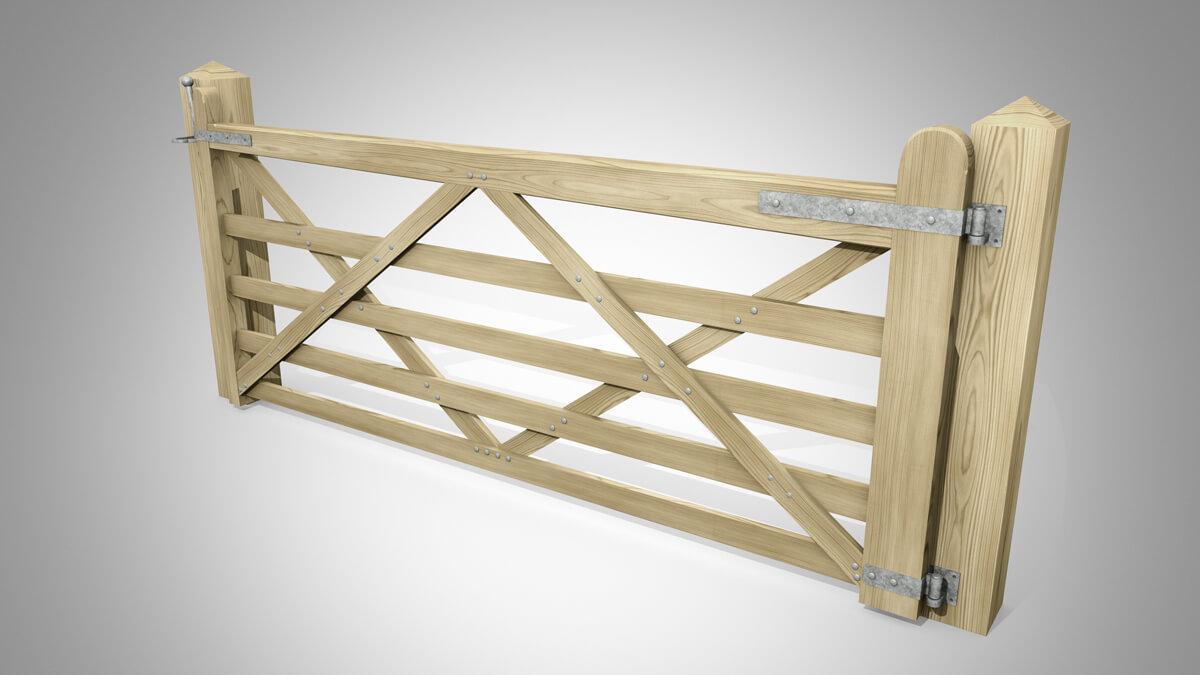 Handmade Field Gate Pattern B Angle