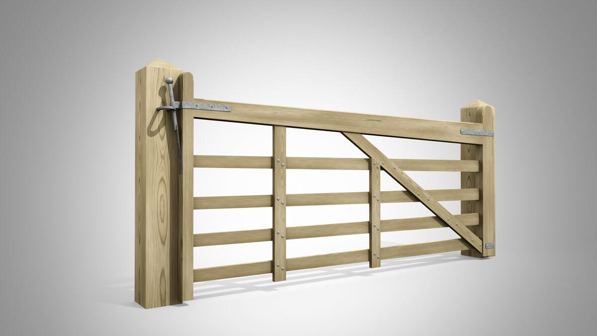 Handmade Field Gate Pattern A Angle