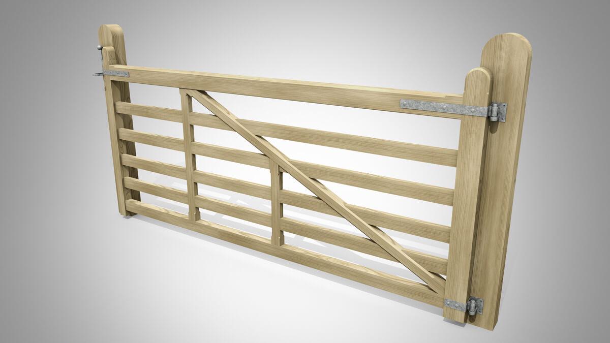 Handmade Field Planed Gate Pattern C Angle