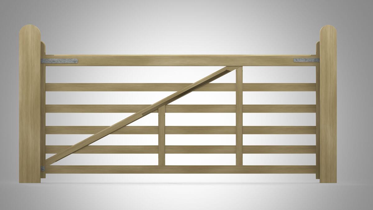 Handmade Field Planed Gate Pattern C Rear