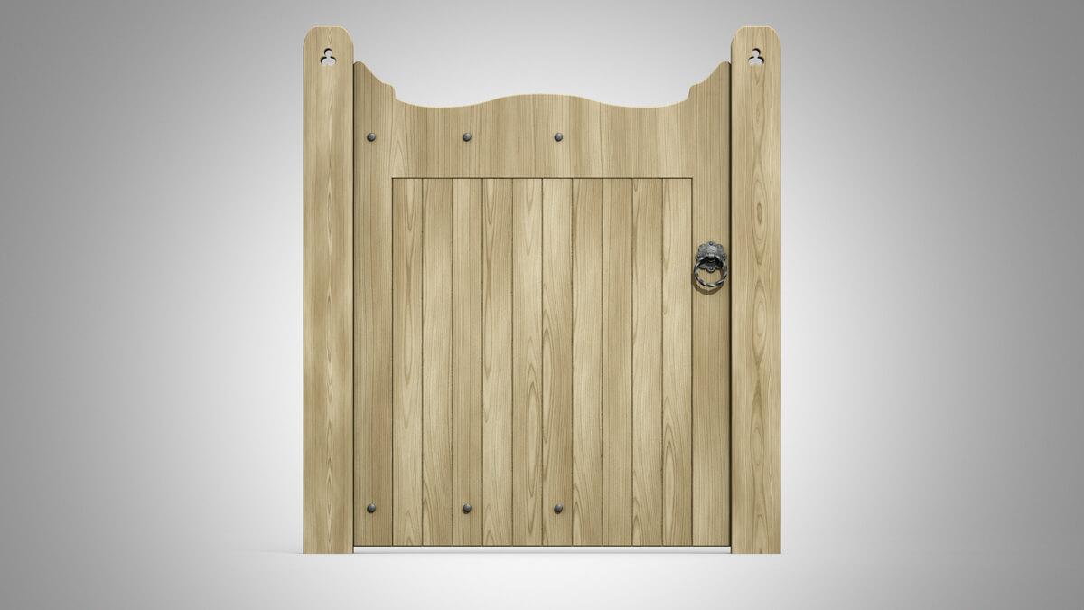 Wrought Ornamental Hand Gate Pattern Q oak front on
